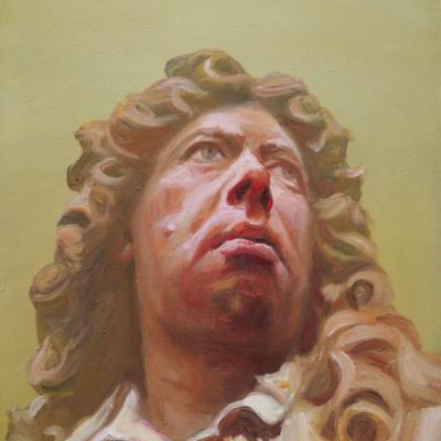 Homo-sapiens II #1, Öl/L, 30 x 40, 2016