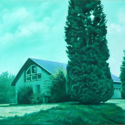 Haus 3, 80 x 100, Öl/L, 2013