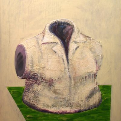Torso 2, 120 x 150,  Gipsbinden/Acryl/L, 1998