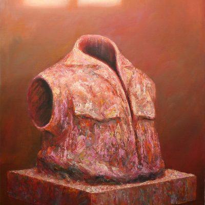 Torso 5, 120 x 150, Acryl/Jute, 1998