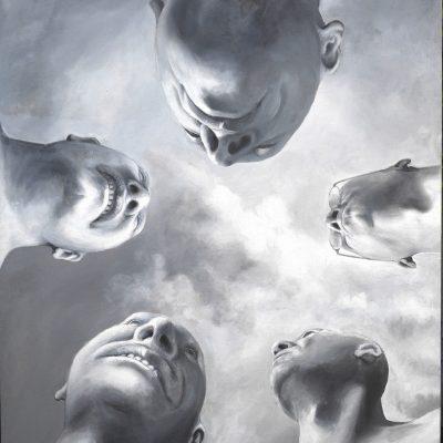 Kopfstudien, 120 x 140, Acryl/L, 2005