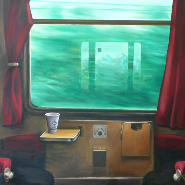 Eisenbahnabteil 1, 100 x 150, Öl/L, 2014