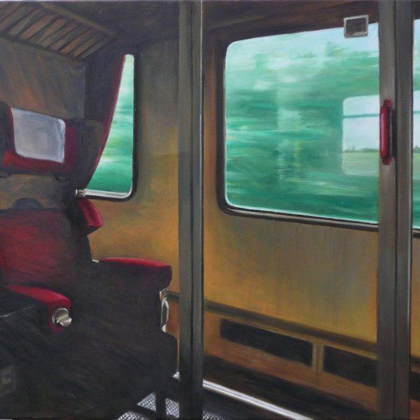 Eisenbahnabteil 2, 80 x 100, Öl/L, 2014