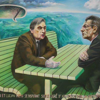 Francis  und Lucian, 140 x 100, Öl/L, 2010