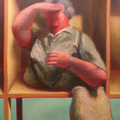 TOURISTENKISTE I, 120 x 200, Öl/L, 1994