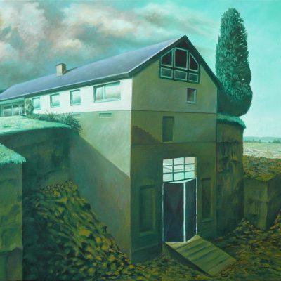 Haus 1, 80 x 100, Öl/L, 2013
