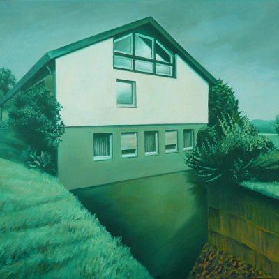 Haus 4, 80 x 100, Öl/L, 2013
